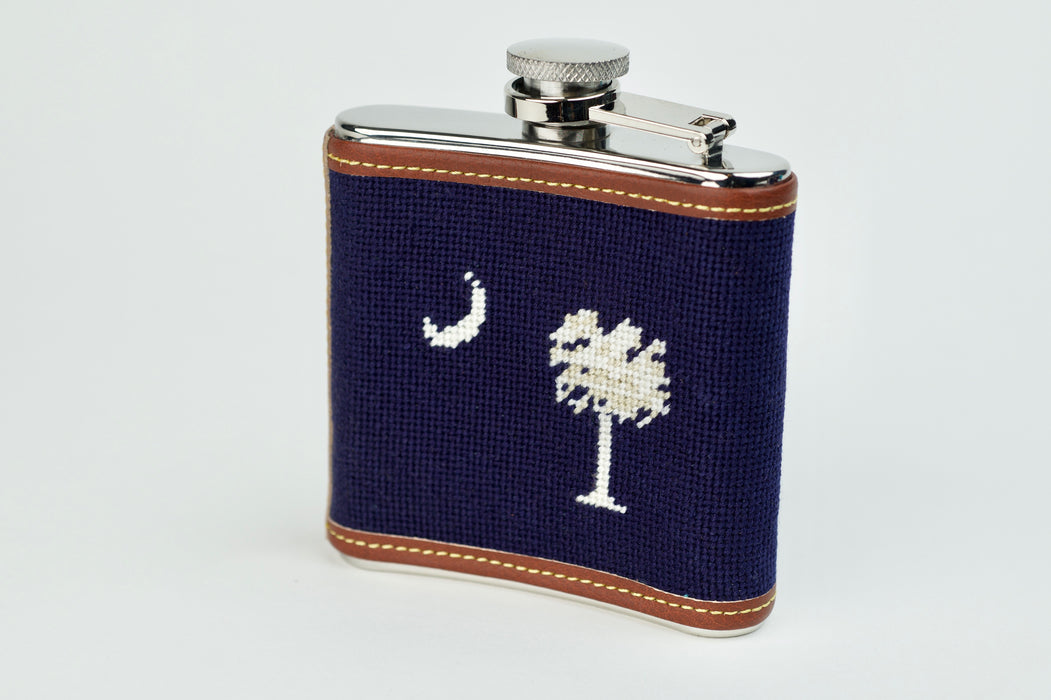 South Carolina Needlepoint Flask