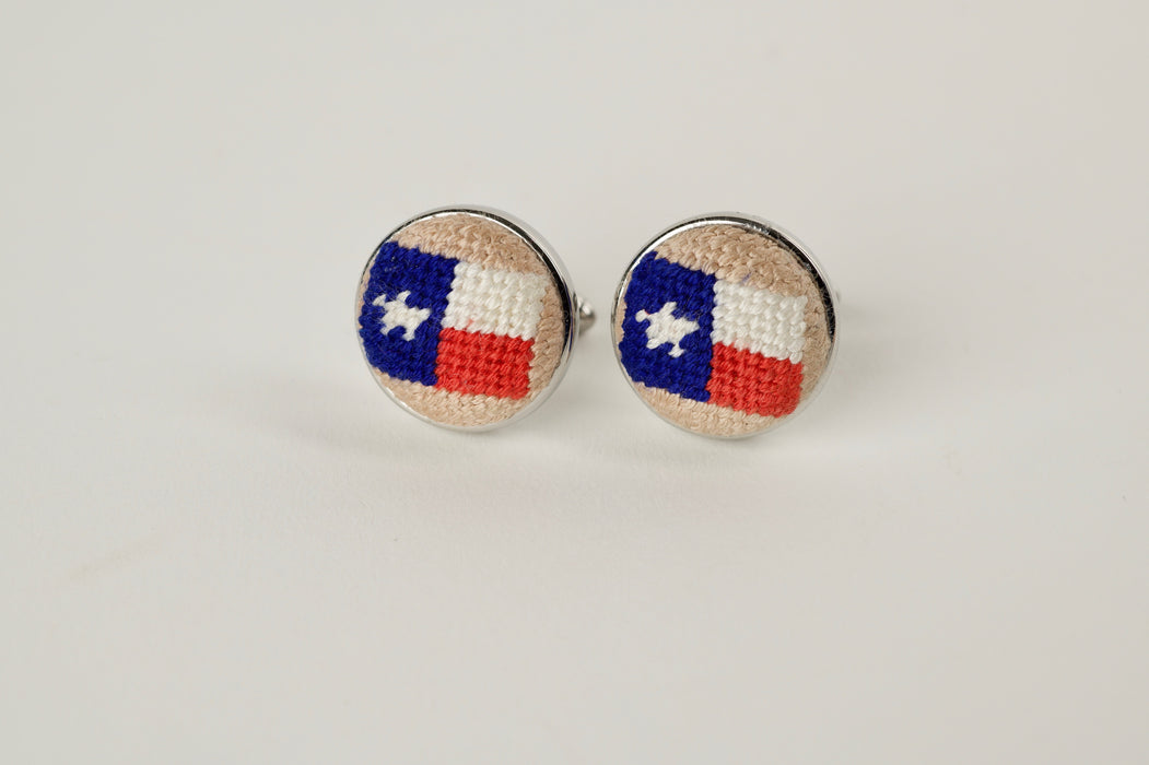 Texas Needlepoint Cufflinks