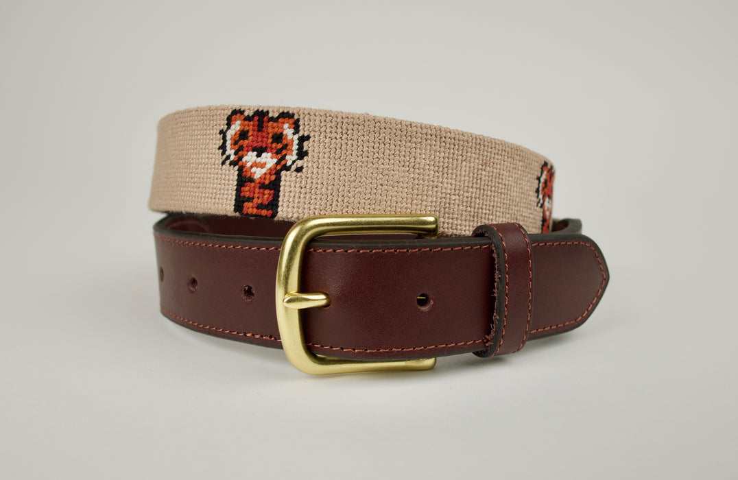 Frank Khaki Needlepoint Belt