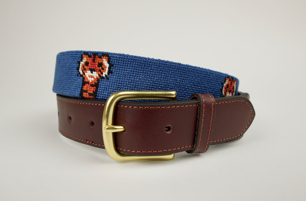 Frank Light Navy Needlepoint Belt
