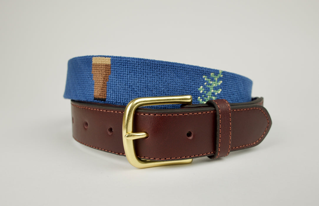 Guinness and Gorse Needlepoint Belt