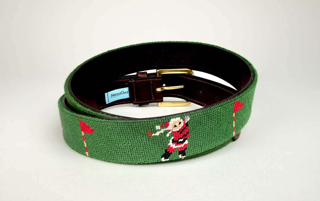 Ho Ho Hole In One Needlepoint Belt