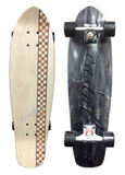 "Koastal Checkered Stripe 29"" Mini Longboard Skateboard (LIGHT) DECK ONLY"