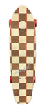 "Koastal 29"" Mini Pickle Checkered Cruiser Longboard Skateboard Complete"