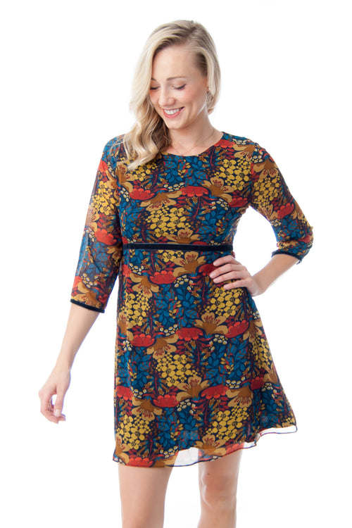 Molly Bracken Floral Dress with 3/4 length Sleeves