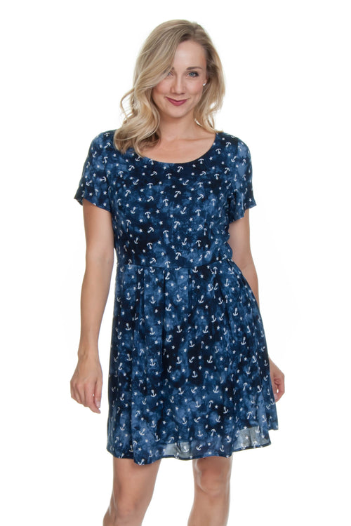 Molly Bracken Navy Anchor Dress