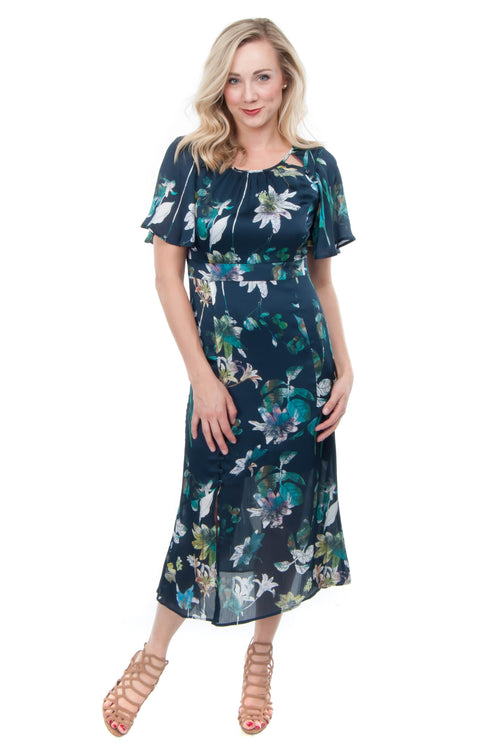 Willow & Clay Navy Floral Dress