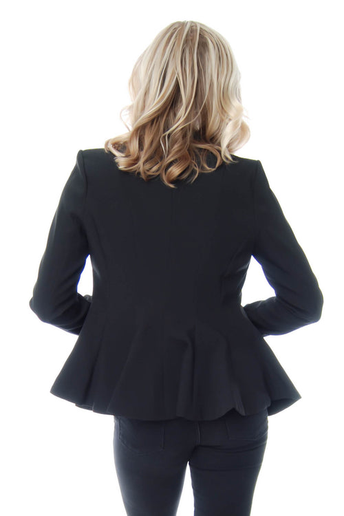 Blazer with peplum bottom