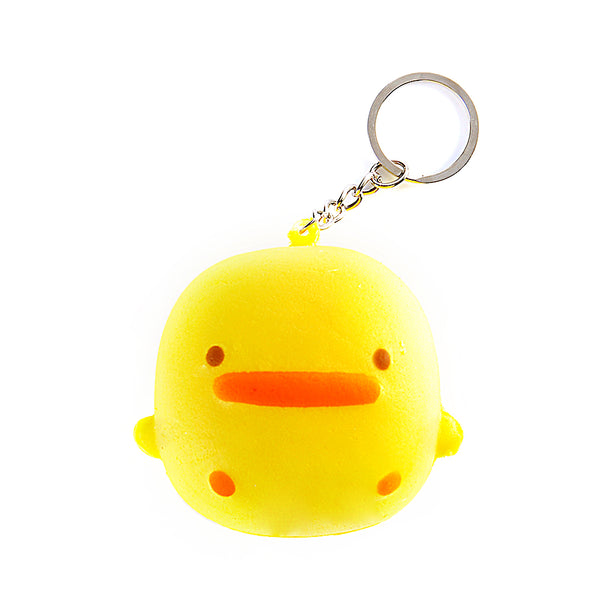 Little Yellow Chicken Soft Squishy  Key Chain Ring