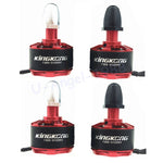 4pcs/lot High Quality 1306 3100KV 2-4S Burshless Motor 2CW 2CCW for FPV Racer Drones RC Multicopter