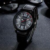 Luxury Watch Men Military Watches Men's Quartz-watch PU Leather Hour Clock Male Wrist Watch Relogio Masculino #53