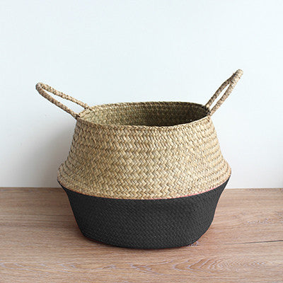 Straw Storage Basket - Flower Pot