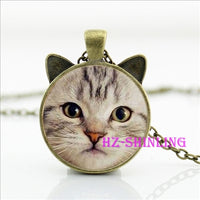 Black cat  Necklace for pet lover.