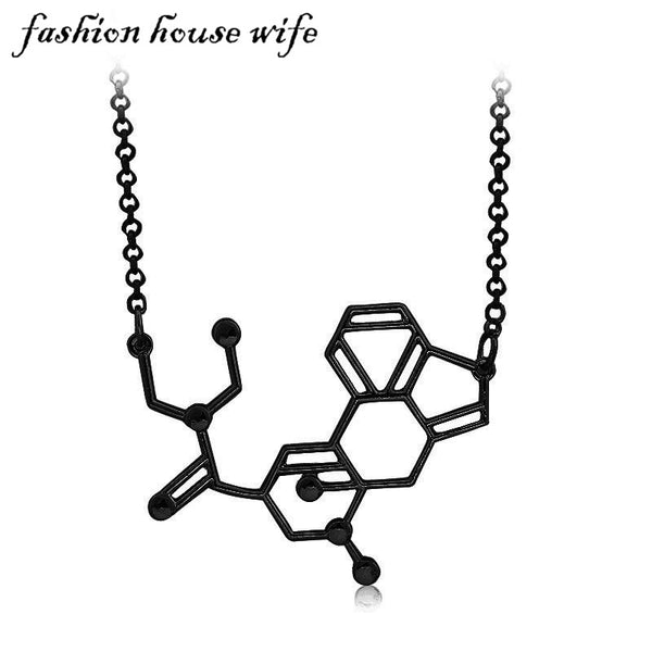 Fashion Dopamine Molecular Science Necklace Jewelry Gift