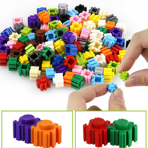 500 pcs 15 Colors DIY Mini Diamond Block Plastic Cube Building Blocks Educational Toy Game Building Blocks for Kids