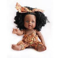 Soft Silicone Black Reborn Baby Realistic Vinyl Doll with Clothes