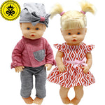 Doll Clothes Fit 35 cm Nenuco Doll Nenuco y su Hermanita Cute Jacket + Trousers Hat Suit and Princess Dress