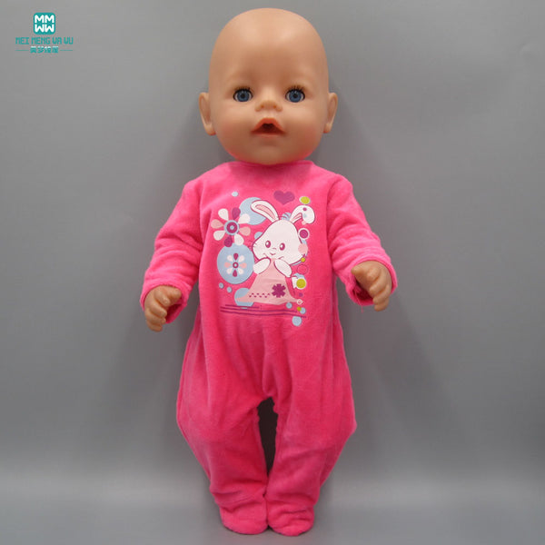 Baby Born Doll Clothes dress Fit 43cm  red plush crawling clothes