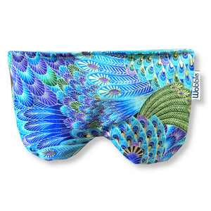 Blue Peacock Feather Scented Eye Pillow