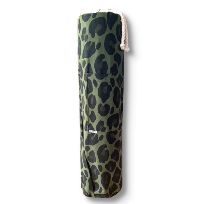Green Animal Print Yoga Mat Bag