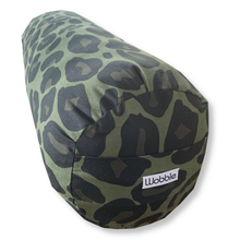 Green Animal Print Yoga Bolster Cushion