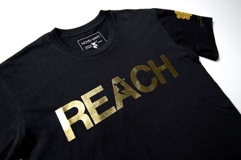 Black 10 Year Anniversary Edition REACH/ESCAPE - parkour t-shirt. freerunning, streetwear