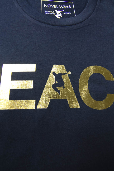 Navy 10 Year Anniversary Edition REACH/ESCAPE - parkour t-shirt. freerunning, streetwear