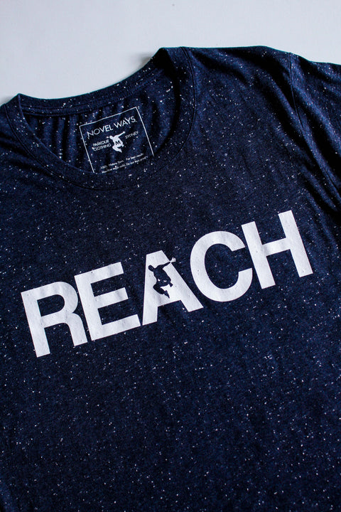 Speckled Navy REACH/ESCAPE - parkour t-shirt