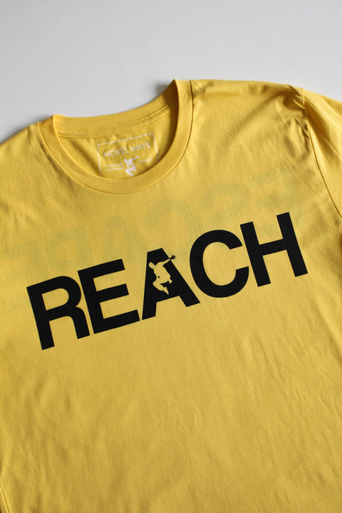 Yellow REACH/ESCAPE - parkour t-shirt