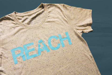 Speckled REACH/ESCAPE - Duck Egg Blue print - parkour t-shirt