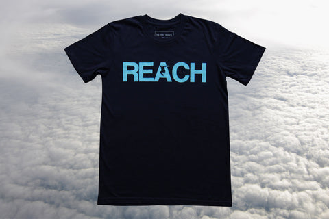 Navy REACH/ESCAPE - Duck Egg Blue print - parkour t-shirt