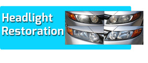 Headlight Restoration with Exterior Car Wash