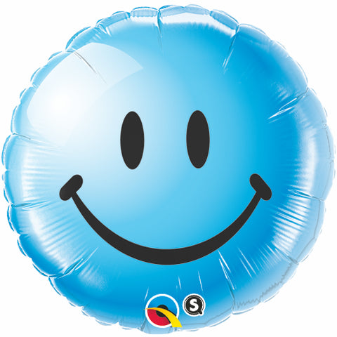 Blue Smiley Balloon