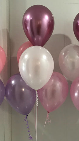 5 Balloon Table Arrangement with Hi Float (2-3 days float time)
