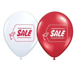 Red & White SALE Balloons with Hi Float