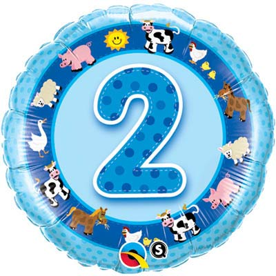 2nd Birthday Blue Farmyard