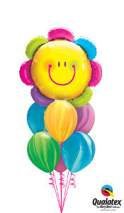 Smiley Flower Balloon Gift