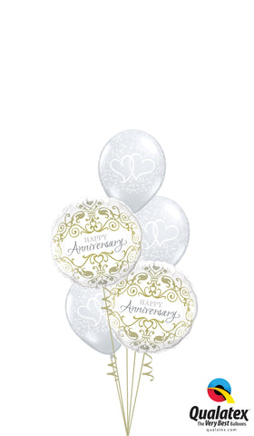 Anniversary Swirling Hearts Balloon Arrangement