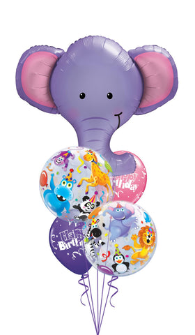 Elephant Circus Birthday Balloon Gift