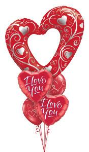 Filigree I love You Balloon Gift