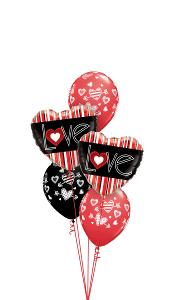 LOVE Stripes Balloon Gift
