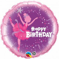 Happy Birthday Ballerina Balloon