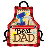 Best Dad Apron Balloon Shape