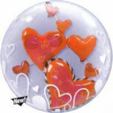 Lovely Floating Hearts Double Bubble