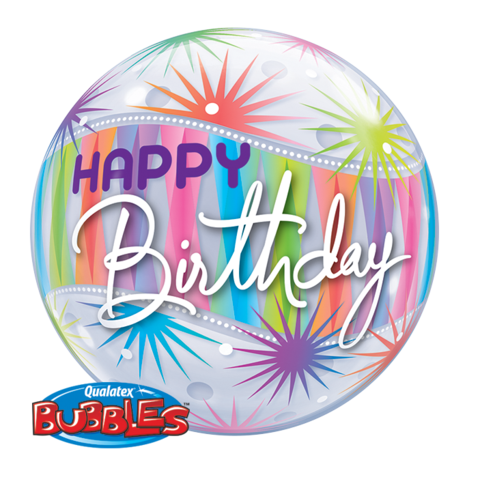 Happy BIrthday Sorbet Bubble Balloon