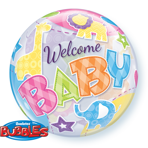 Welcome Baby Animals Bubble
