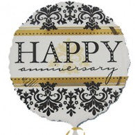 Happy Anniversary Damask