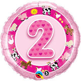 2nd Birthday Pink Farmyard