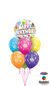 Happy Birthday Lots of Cupcakes Balloon Gift