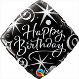 Happy Birthday Elegant Diamond Balloon